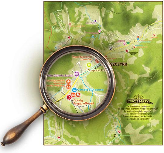 Mapka dla turystów niezbędna dla promocji regionu!